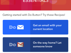 IFTTT Do Button app