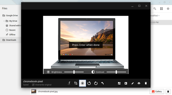 chromebook gallery app
