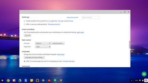 chromebook smart lock settings