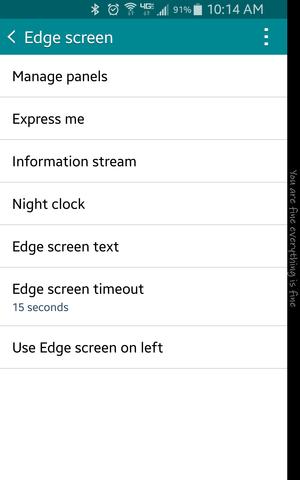 edge settings