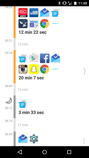 qualitytime timeline android