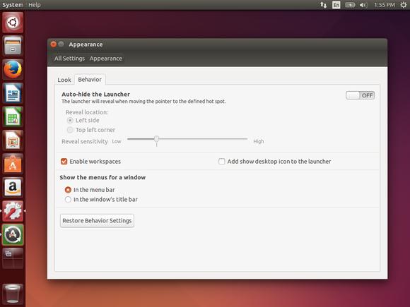 activate workspaces on ubuntu unity