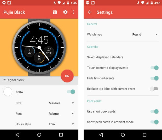 Android Wear Apps - Pujie Black