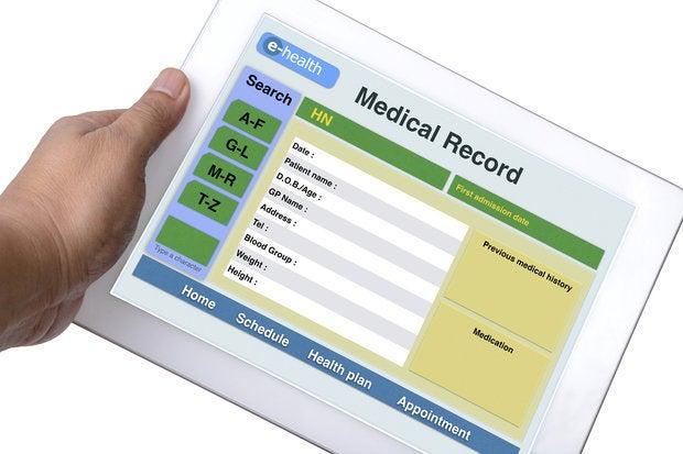 health record on ipad