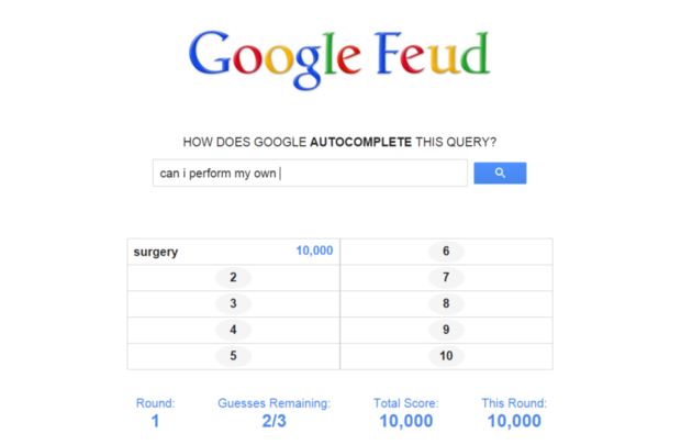 google feud can i perform my own