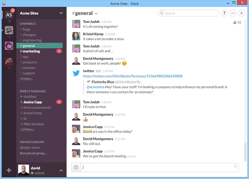 Instant Messaging Slack : Slack for windows exits beta
