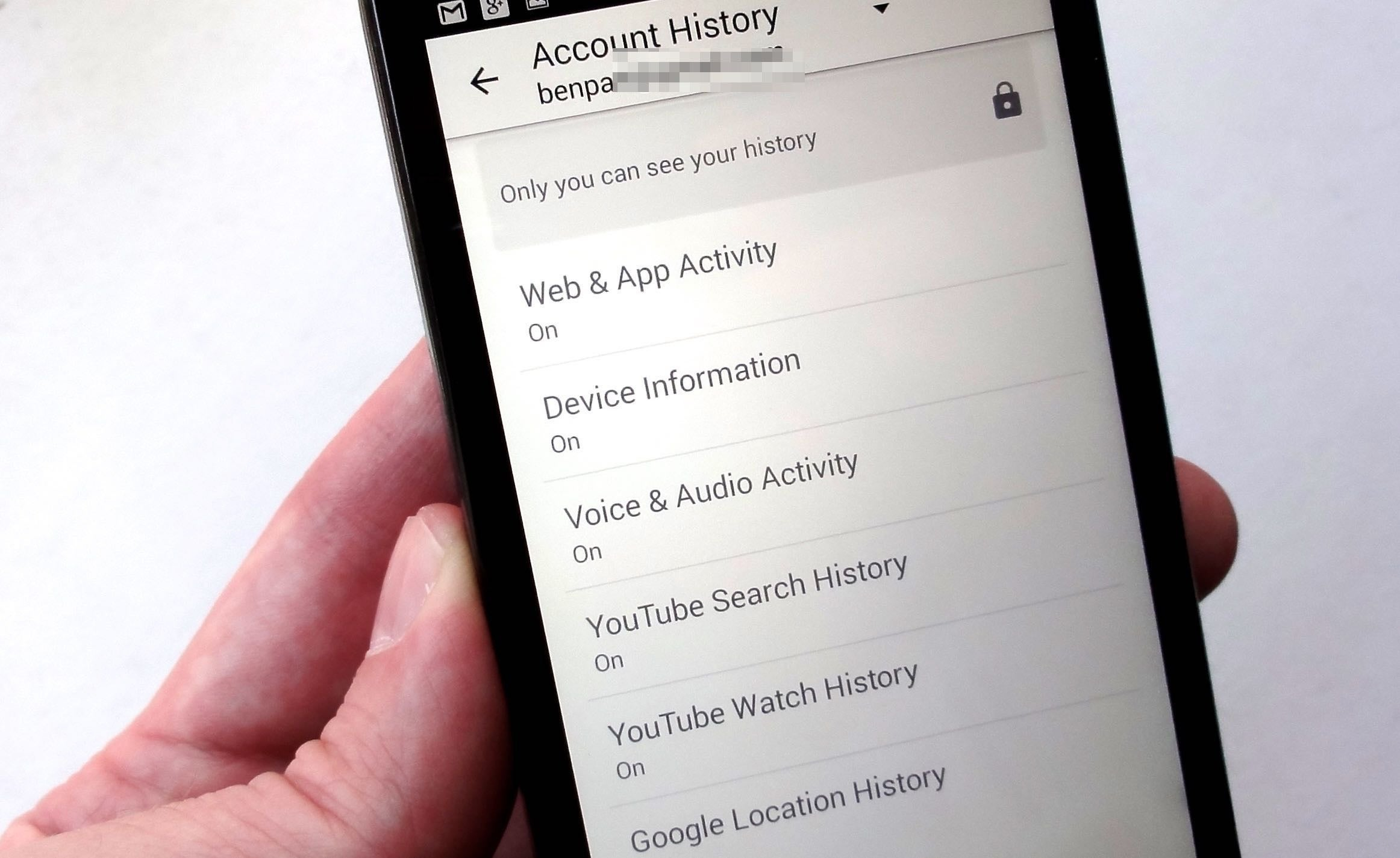 Android Device Watching You Account History 3