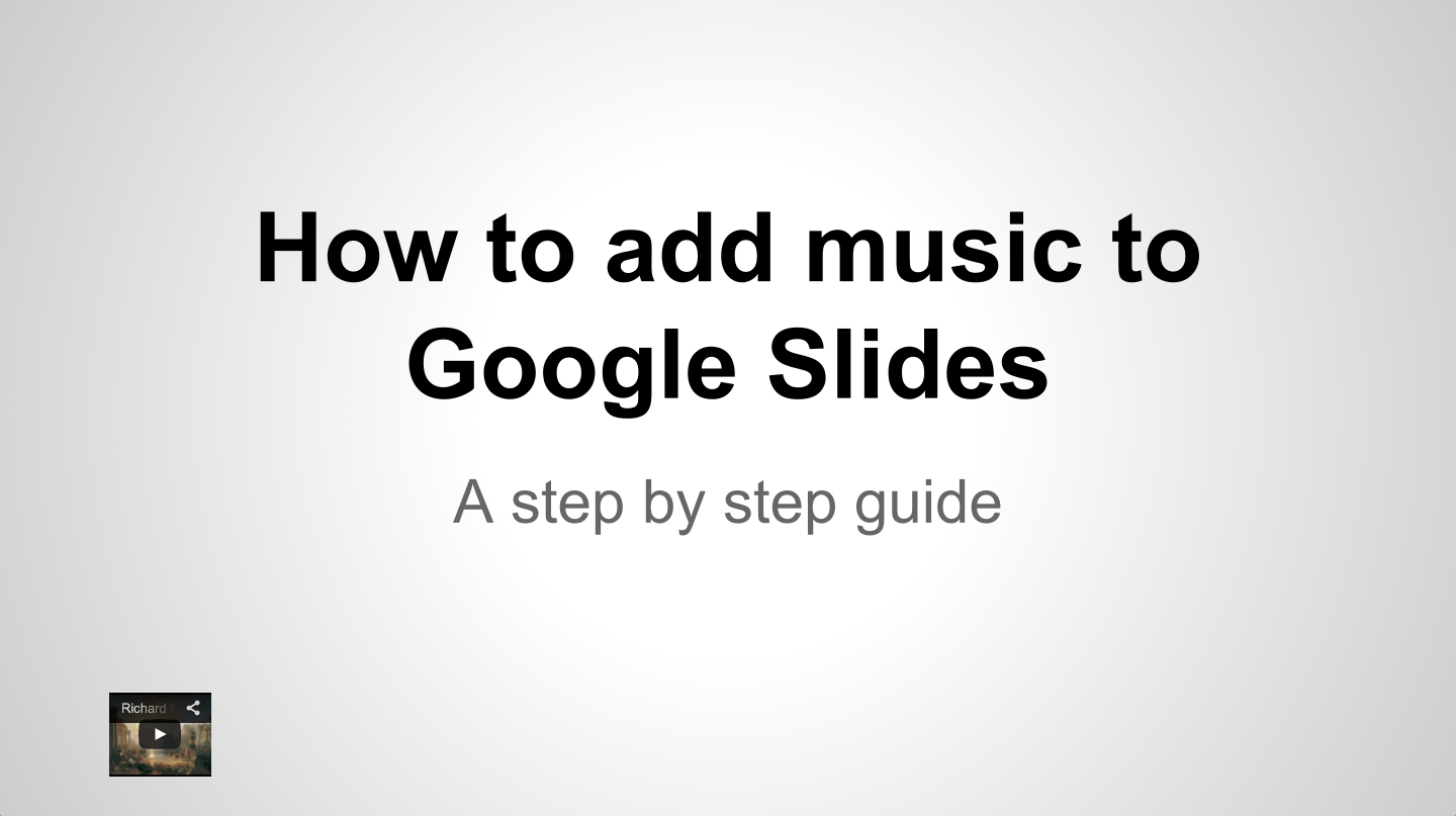how to add video to google slides