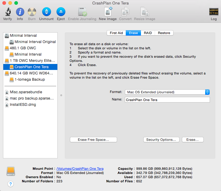 how to clear your disk on mac