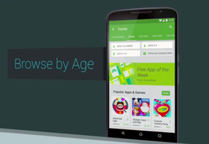 age specific google play store