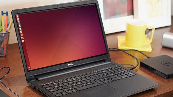 Dell Inspiron 3000 series laptop running Ubuntu.