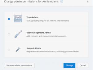dropbox tiered admin roles