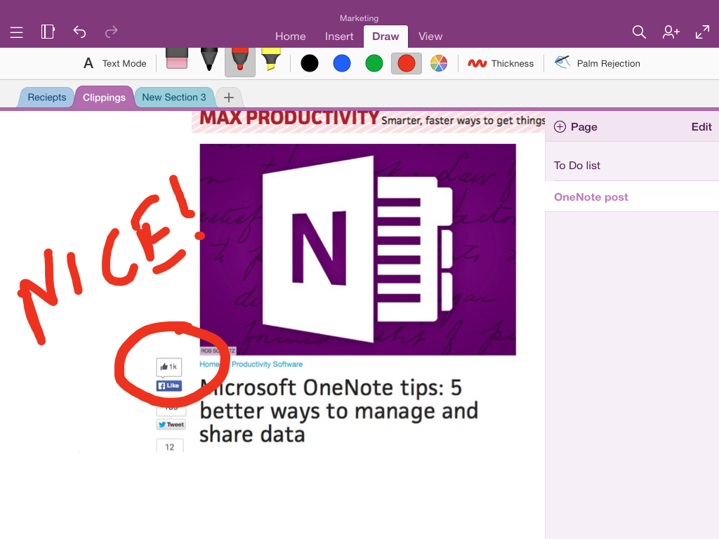 Onenote For Ipad Annotated Image