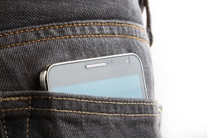 cell phone smartphone in pocket