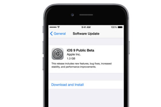 ios9 public beta primary