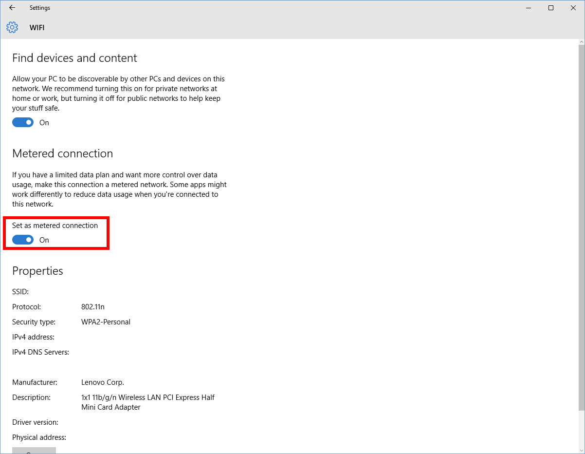 For The Latter, All You Have To Do Is Set Your Wifi Connection To  Metered—though Note That Microsoft Does Not Allow You To Set Ethernet  Connections As