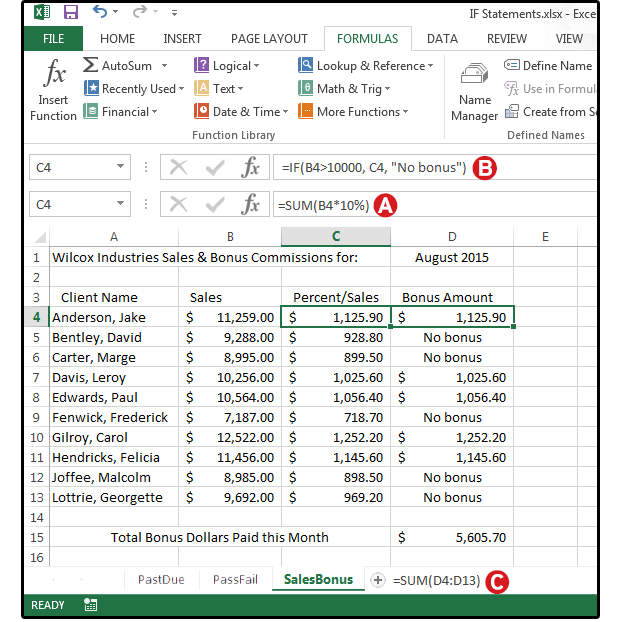 Ediblewildsus  Marvellous Excel Logical Formulas  Simple If Statements To Get Started  With Glamorous Use An If Statement To Calculate Sales Bonus Commissions With Amusing How To Merge Two Excel Spreadsheets Also How To Do An If Function In Excel In Addition Standard Deviation Excel Formula And Average Excel Formula As Well As How To Recover Excel File Not Saved Additionally How To Make A Waterfall Chart In Excel From Pcworldcom With Ediblewildsus  Glamorous Excel Logical Formulas  Simple If Statements To Get Started  With Amusing Use An If Statement To Calculate Sales Bonus Commissions And Marvellous How To Merge Two Excel Spreadsheets Also How To Do An If Function In Excel In Addition Standard Deviation Excel Formula From Pcworldcom