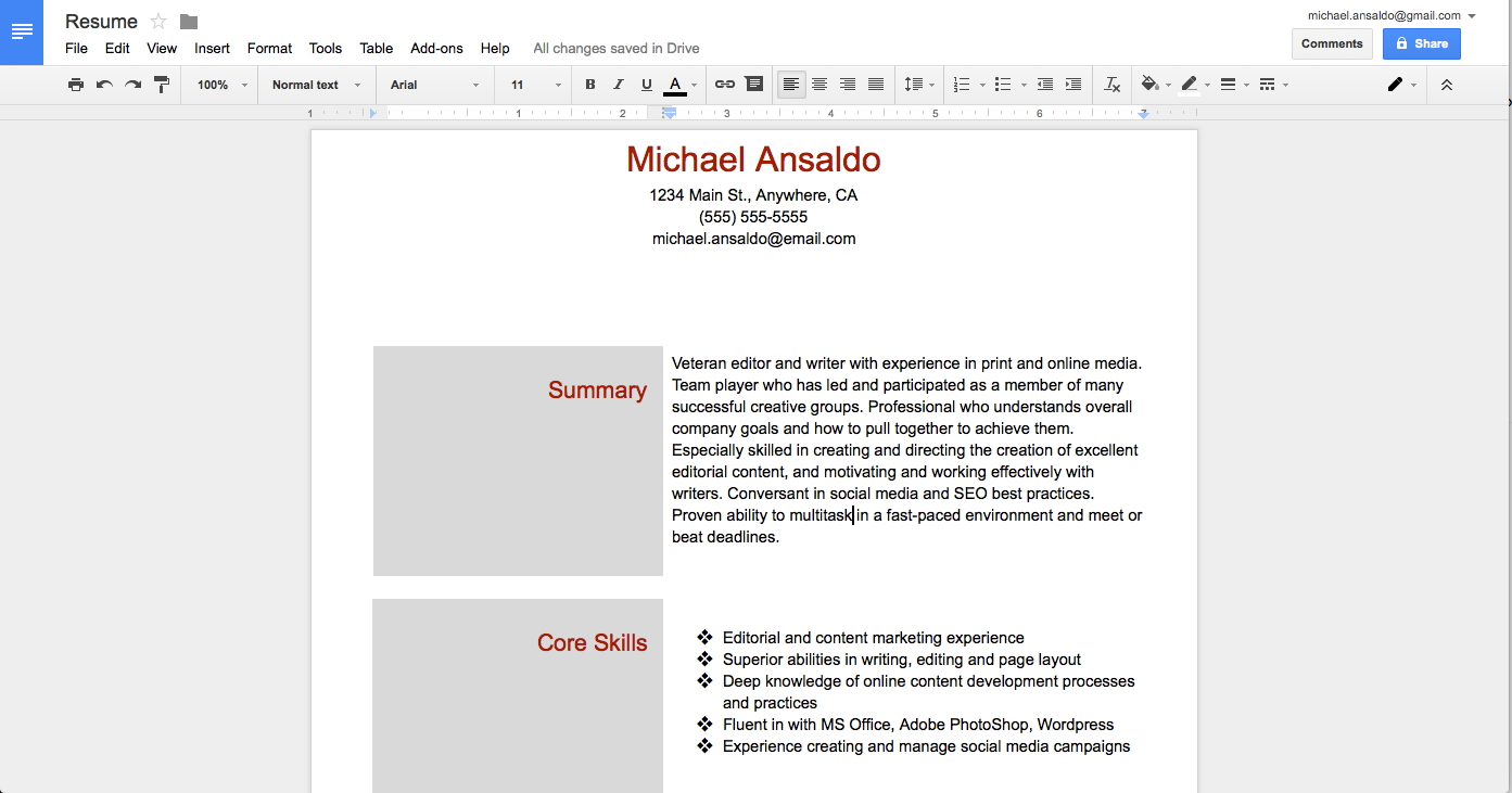 Sample Carpenter Resume Templates Job And Resume Template ...  Google Docs Resume Builder