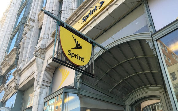 Sprint logo on store in Boston