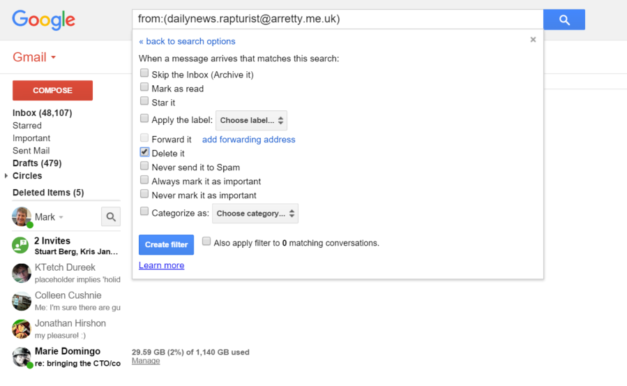Google S Gmail Finally Adds The Ability To Block Email