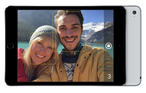 8 MP Camera on the iPad Mini 4. Image courtesy:  MacWorld