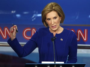 Former HP chief Carly Fiorina at GOP debate
