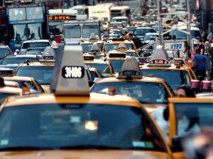 traffic jam taxis new york city