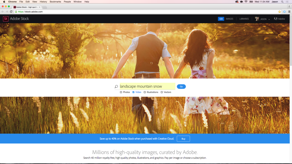 First launched in june of this year adobe stock now adds video to its