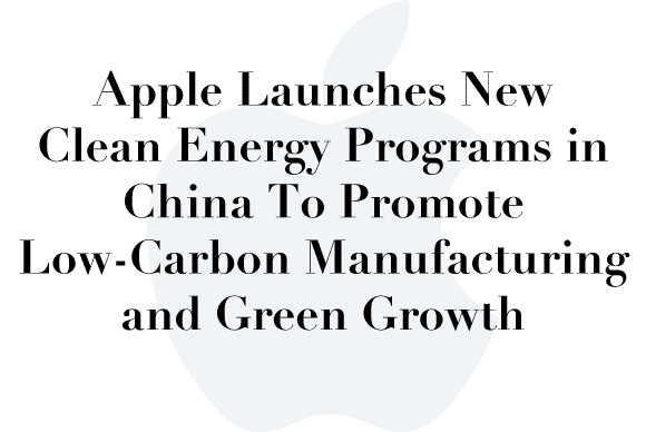 apple china clean energy