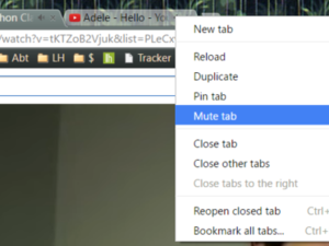 chrome mute tab