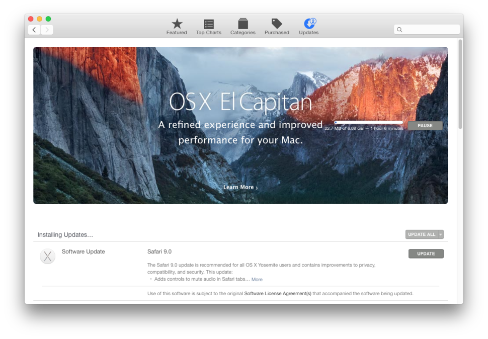 El capitan update