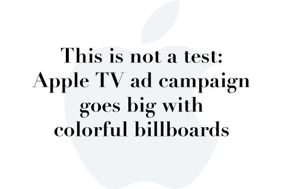 apple tv color billboards