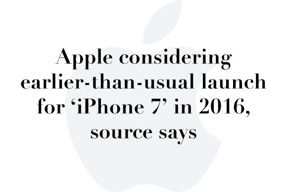 iphone 7 launch rumor
