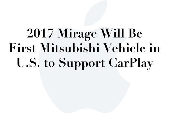 mirage carplay 2017