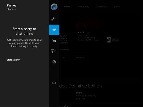 New Xbox One Experience Microsoft Parties NXOE