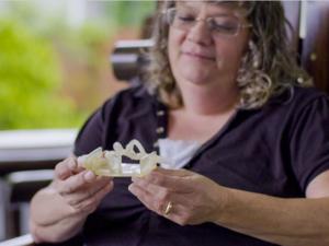 3D printed aneurism model