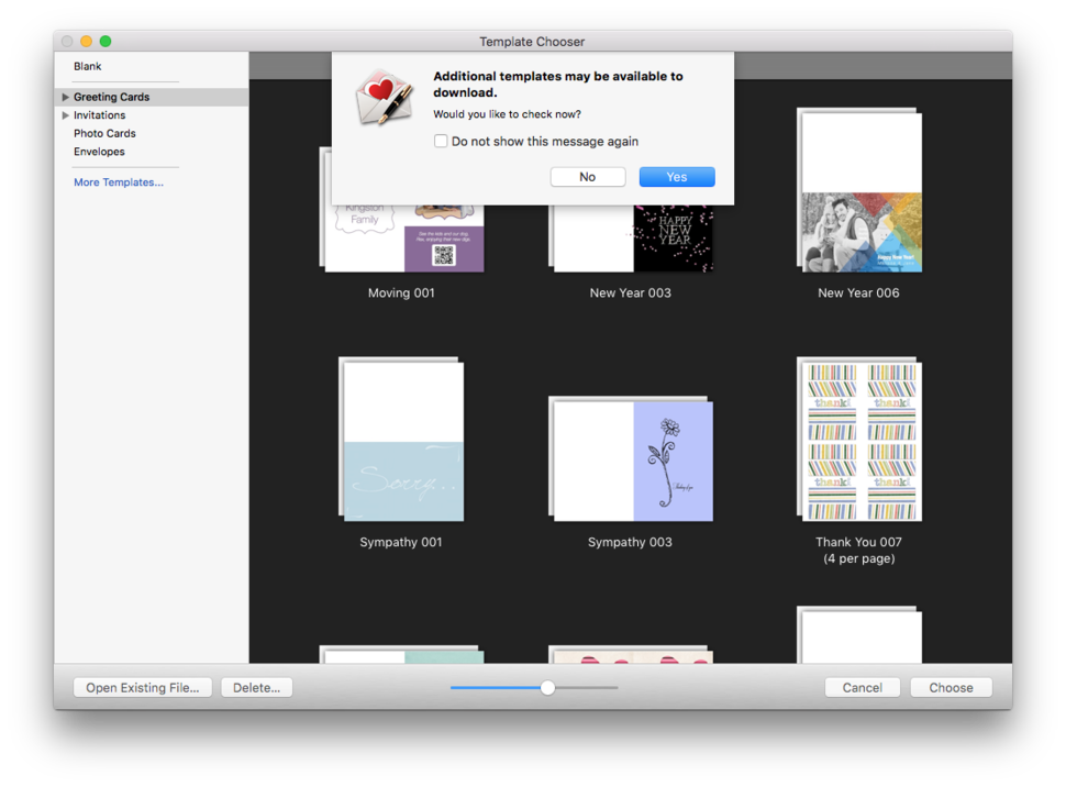 Greeting card shop 3 review mac design software bulks up for Free greeting card templates for mac