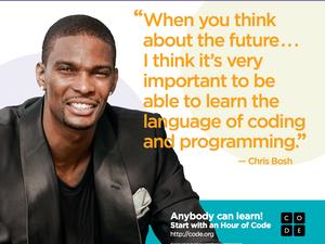 chris bosh hour of code