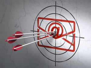 email bullseye with three red arrows
