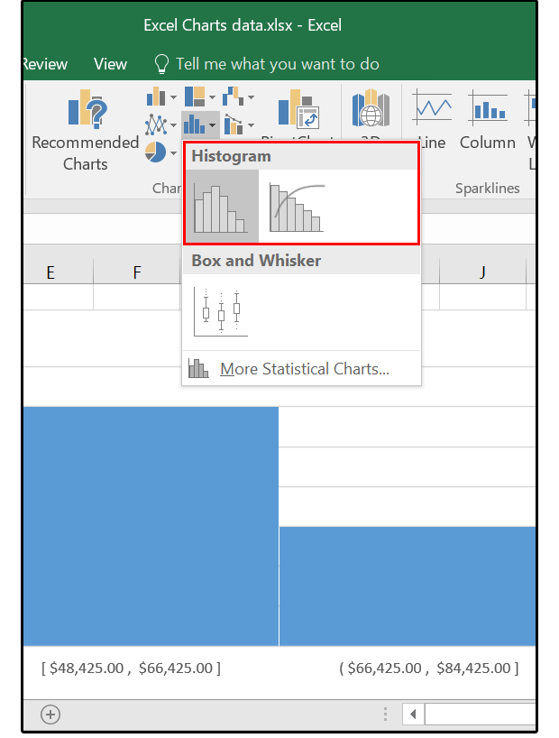 Excel 2016 charts: How to use the new Pareto, Histogram, and ...