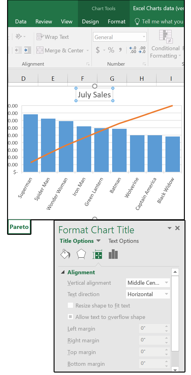 how to add chart axis titles in excel 2016