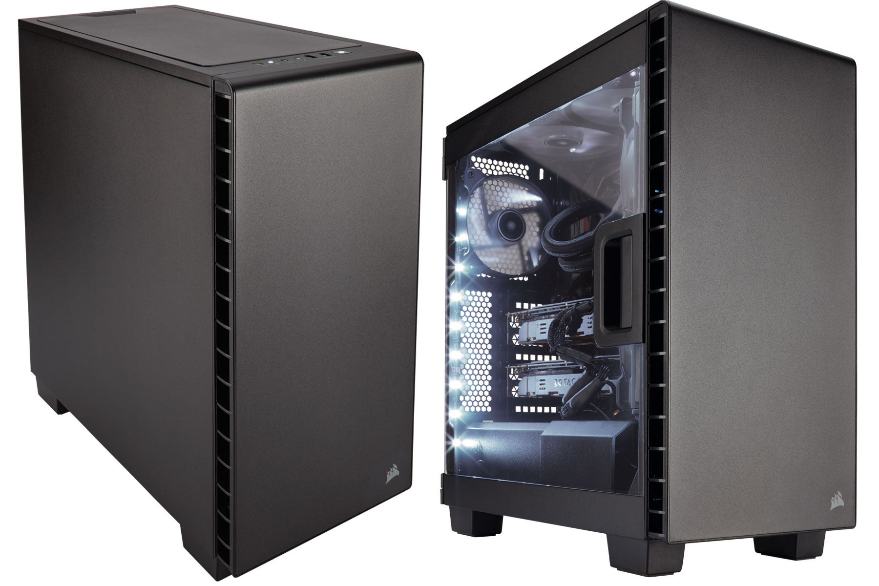 Corsair 39 s new pc cases range from flashy and angular to for Case pc colorati