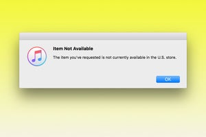 itunes item not available