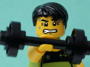 lego lift weight strength strong barbell