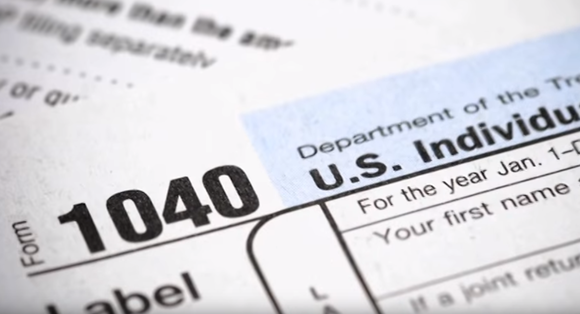 The Internal Revenue Service's IRS tax filing form 1040.