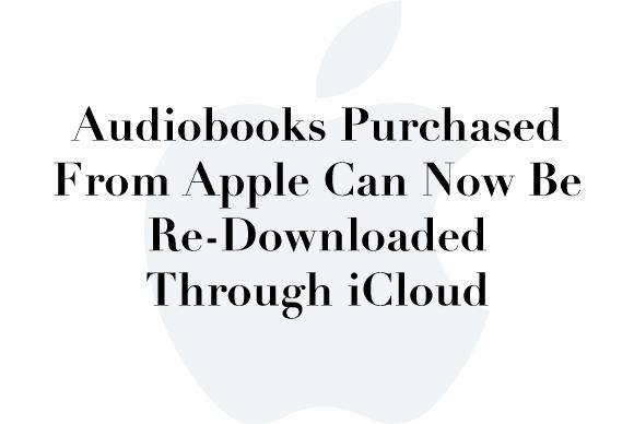 icloud redownload audiobooks