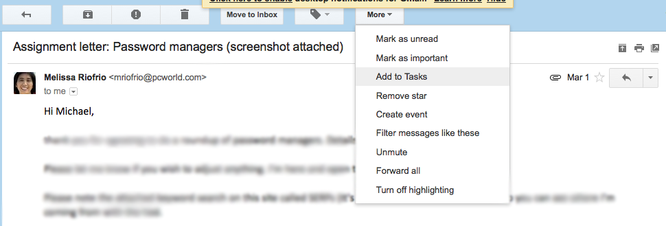 how to add or amend message in gmail