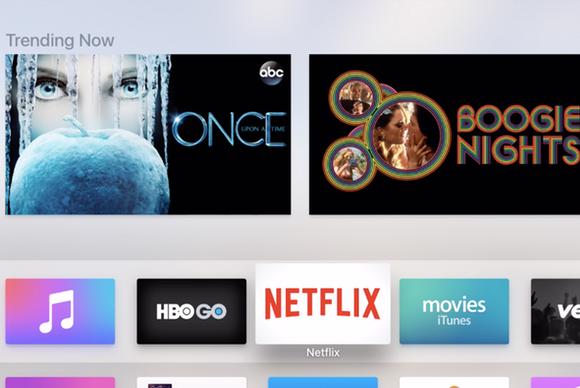 apple tv apps top row
