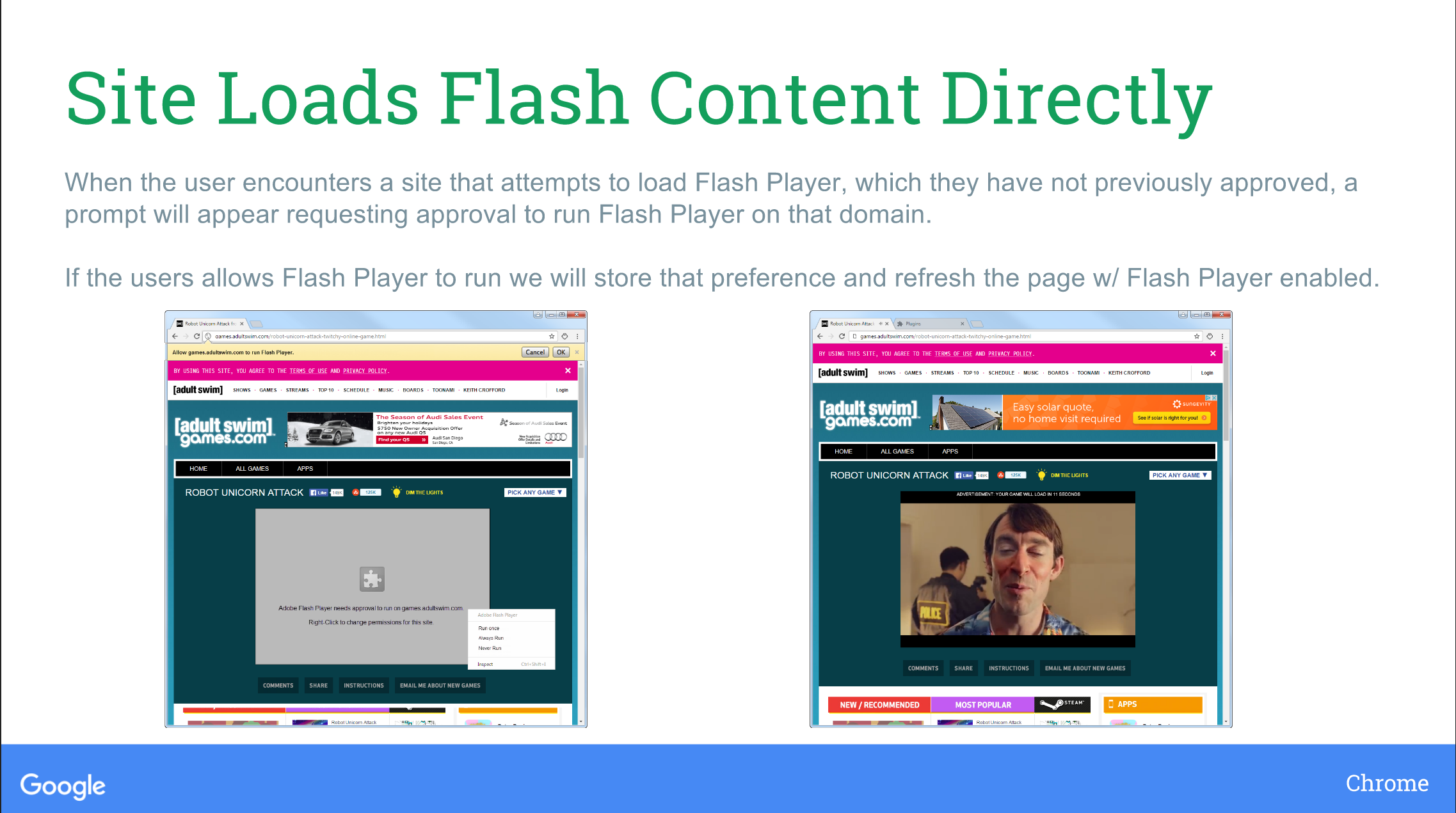 Google aims to start blocking flash in chrome this year How to start flash player