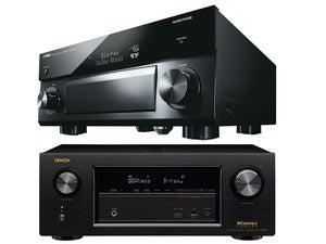 Yamaha and Denon AV receivers